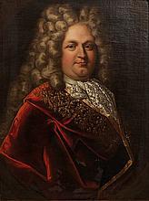 École FRANÇAISE du début du XVIII°siècle  Portrait d'homme  Toile  73,5 x 59,5 cm  (Restaurations)