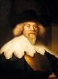 Ecole HOLLANDAISE du XIX° siècle, Suiveur de Govaerts FLINCK (1615 - 1660) élève de Rembrandt Portrait d'un praticien Huile sur toile 81 x 60 cm Ce portrait d'un patricien passe pour le prototype de Govaert Flinck, situé dans la Staatlichen