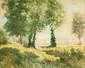 Ecole FRANCAISE XIX° siècle,  Entourage de Corot  Paysage de sous bois  Toile