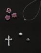 PAIRE DE CLIPS D'OREILLES orchidées en or gris, les pétales pavés de saphirs roses en camaieu et saphirs jaunes parsemés de diamants, le pistil en tourmaline cabochon.  Poids: 22,6 g