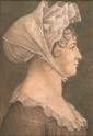 Deux portraits au physionotrace, vers 1800-1810 Montage d'origine 40,5 x 30 cm (pour les deux) Le