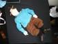 HERGE  Rare marionnette Leblon Delienne représentant Tintin 1986