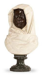 Raimondo PEREDA (1840-1915) BUSTE D'ENFANT MAURE