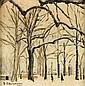 J. SCHWIENBACHER (XX° siècle)  Paysage d'hiver  Huile sur toile, signée en bas à gauche, datée 1962  40 x 60 cm
