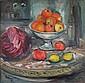 José PALMEIRO (1901/03-1984)   Nature morte aux fruits Huile sur toile, signée et datée 29 en bas à gauche  84 x 86 cm