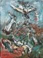 Maria Ester LAGRANGE (née en 1958) Les protecteurs Série de la Divine Comédie, 1988-1995 Technique mixte sur toile signée en bas à gauche 22 x 16 cm Un certificat d'authenticité de la main de l'artiste sera délivré à l'adjudicataire