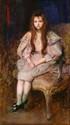 Louis PICARd (Paris 1861 - ? 1940)  Jeune fille assise  Panneau  46 x 27 cm  Signé et daté en haut à gauche Louis Picard 95