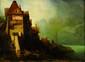 ecole du nord du XIX° siècle  Les bateaux sur la grève  Huile sur toile  39 x 53 cm (Accidents)