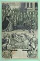 Almanach pour l'année 1697 La partie supérieure représente une scène de l'année précédente, sous le titre