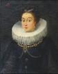 École FLAMANDE du XVIII° siècle Portrait d'une femme à la collerette blanche Huile sur toile 47 x 38 cm