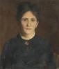 Léon DELACHAUX (1850-1919) Femme à la collerette Huile sur toile, signée en haut à droite 56 x 46 cm