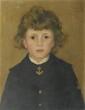 Léon DELACHAUX (1850-1919) Jeune garçon en habit d'officier Huile sur toile 40 x 33 cm