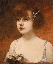 Henri GERVEX (1852-1929)  Dans la loge  Toile, signée au milieu à gauche  47 x 37cm