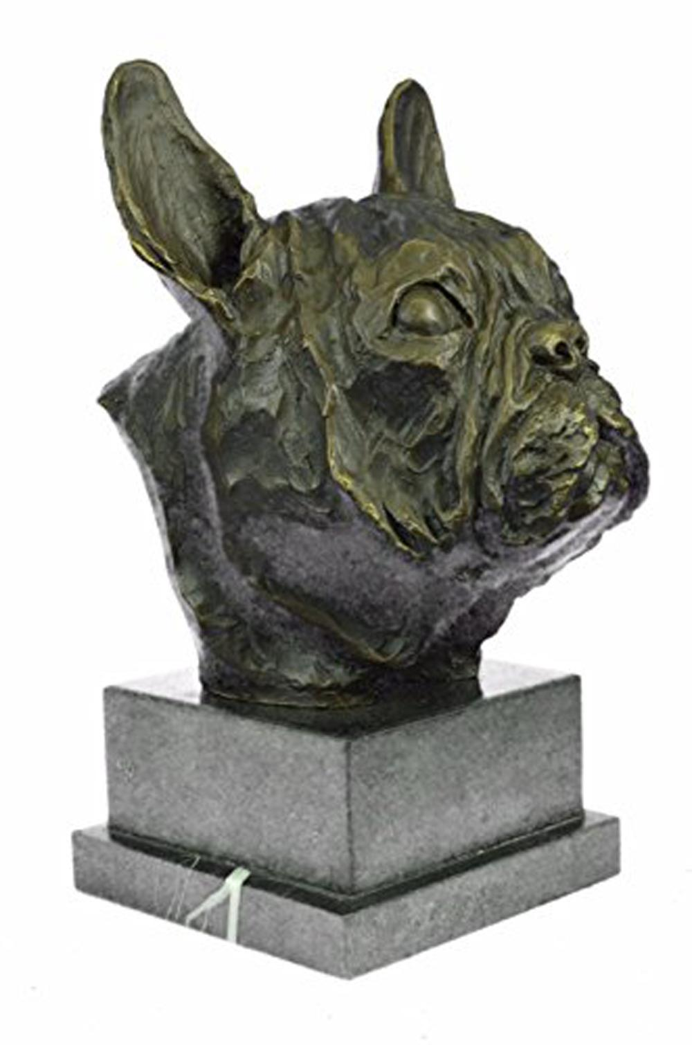 Man Best Friend French Bulldog Dog Bronze Sculpture