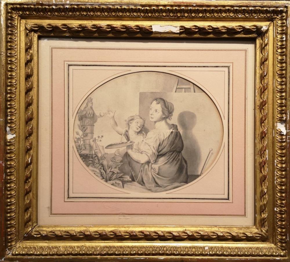 Sold Price Ecole Allemande Du Xixeme Siecle Allegorie De La Peinture Lavis Gris 14 5 X 18 Cm Mon July 4 0120 2 00 Pm Cest