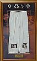 Elvis Presley, American Singer, a pair of worn cream coloured slacks, these were worn by Elvis in the 1950's