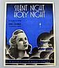 A Deanna Durbin signed music score for 'Silent Night, Holy Night', signed to front cover on dark blue ink