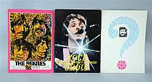 The Beatles, original Japanese tour programmes for The Beatles at Shea Stadium 1977, Paul McCartney & Wings Rock Show