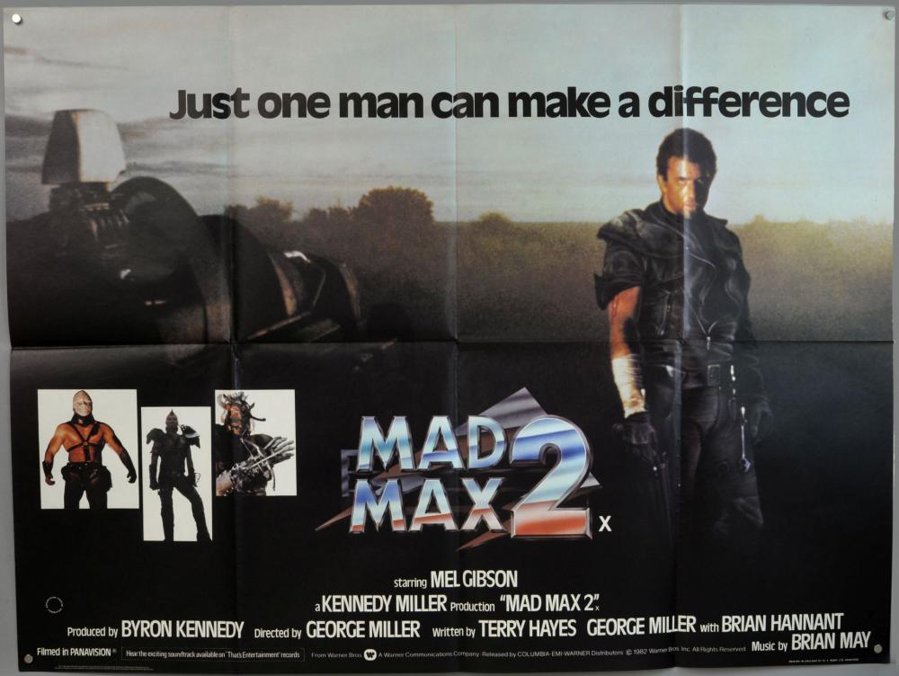 3 Mad Max British Quad film posters, Mad Max 2 & B