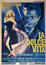 La Dolce Vita (1960), Cineriz, Italian four-foglio film poster, style A, artwork by Georgio Olivetti, directed by Federico Fellini,