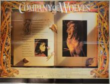 Company of Wolves (1984) British Quad film poster, art by Alan Lee, folded, 30 x 40 inches