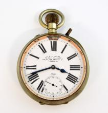 J C Vickery Goliath Pocket watch in Nickel plated