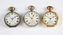 A Waltham Moon pocket watch  with enamelled dial