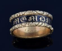 Victorian gold mourning ring the black band of ena