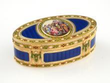 German enamelled gold snuff-box, Hanau, circa 1780