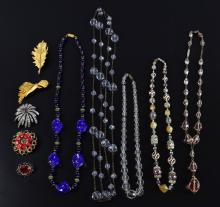 Vintage costume jewellery glass bead necklaces and