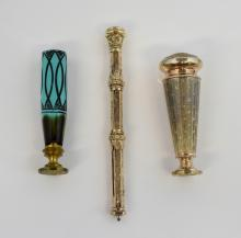 Victorian gilt metal pencil, in engraved case with