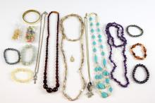 Collection of costume jewellery, including silver