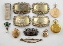 Collection of costume jewellery, including three l