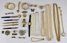 Small quantity of costume jewellery, including cam