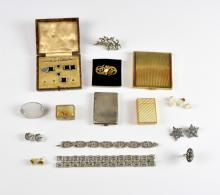 Mixed group of items to include, Edwardian silver