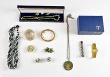 Selection of costume jewellery items, including La