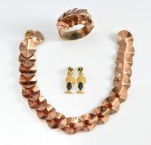 Vintage costume jewellery, including a 1960's larg
