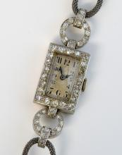 Ladies diamond cocktail watch, set with fifty two