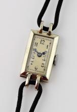 Ladies Art Deco cocktail watch, rectangular white