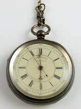 Silver pocket Chronograph by S. Lichtenstein, Manc