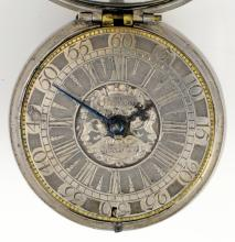 Early 18th century pair cased pocket watch by Thom