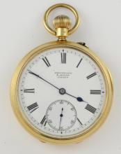 Keyless open face pocket watch by Brockbank and At