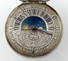 Rare late 17th century pair cased pocket watch by