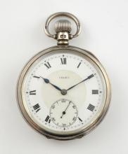 Rolex pocket watch, white round dial with Roman nu