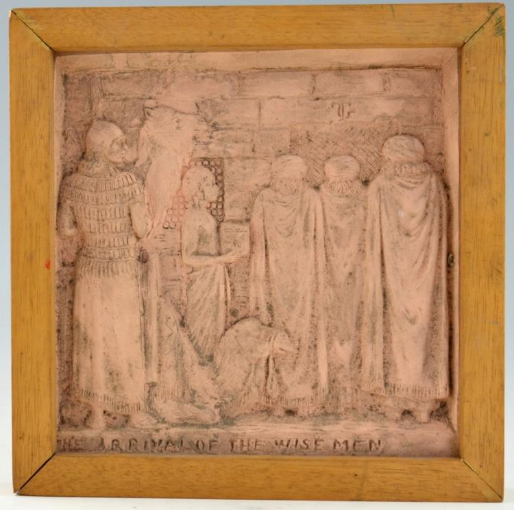 Terracotta plaque, The arrival of the wise men, si