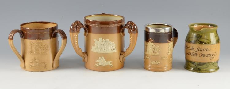 Doulton stoneware, a large harvest ware loving cu