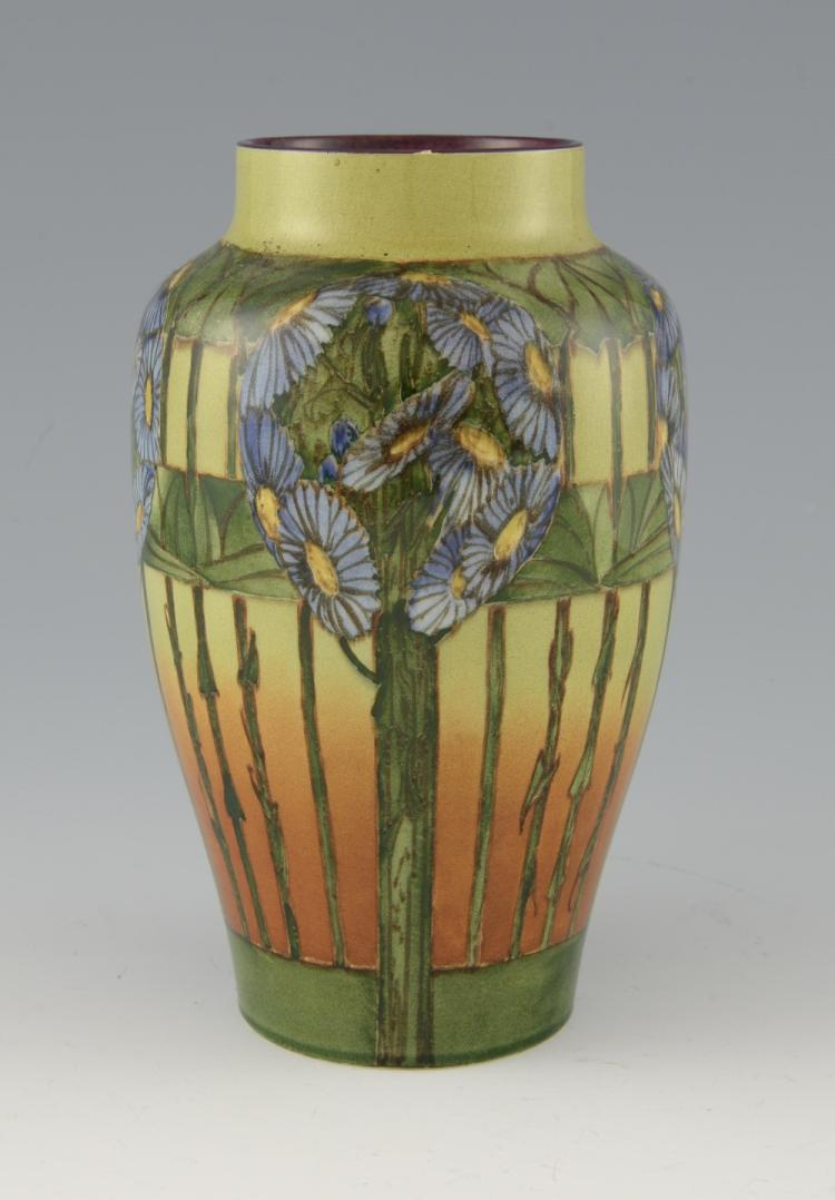 Doulton Lambeth, vase with hand painted decoration