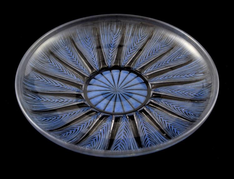 Lalique, Epis design clear glass circular plate, w