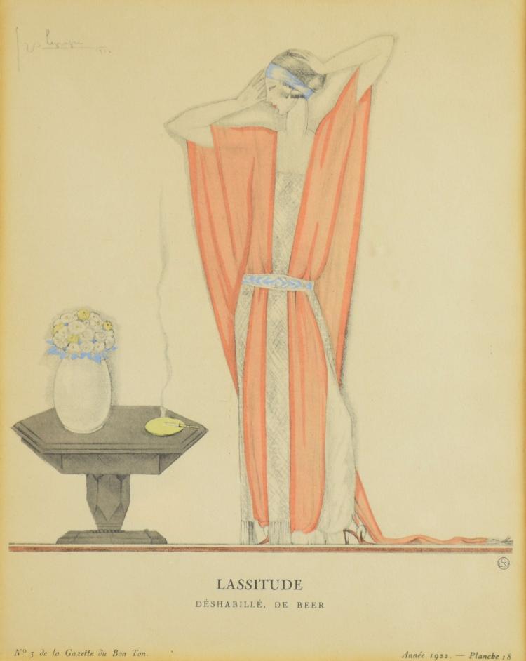 George Lepape (French, 1887-1971), 'Lassitude, Dés