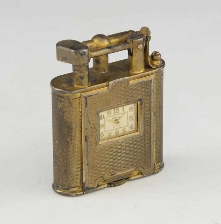 Art Deco silver gilt Dunhill 'Unique' cigarette l